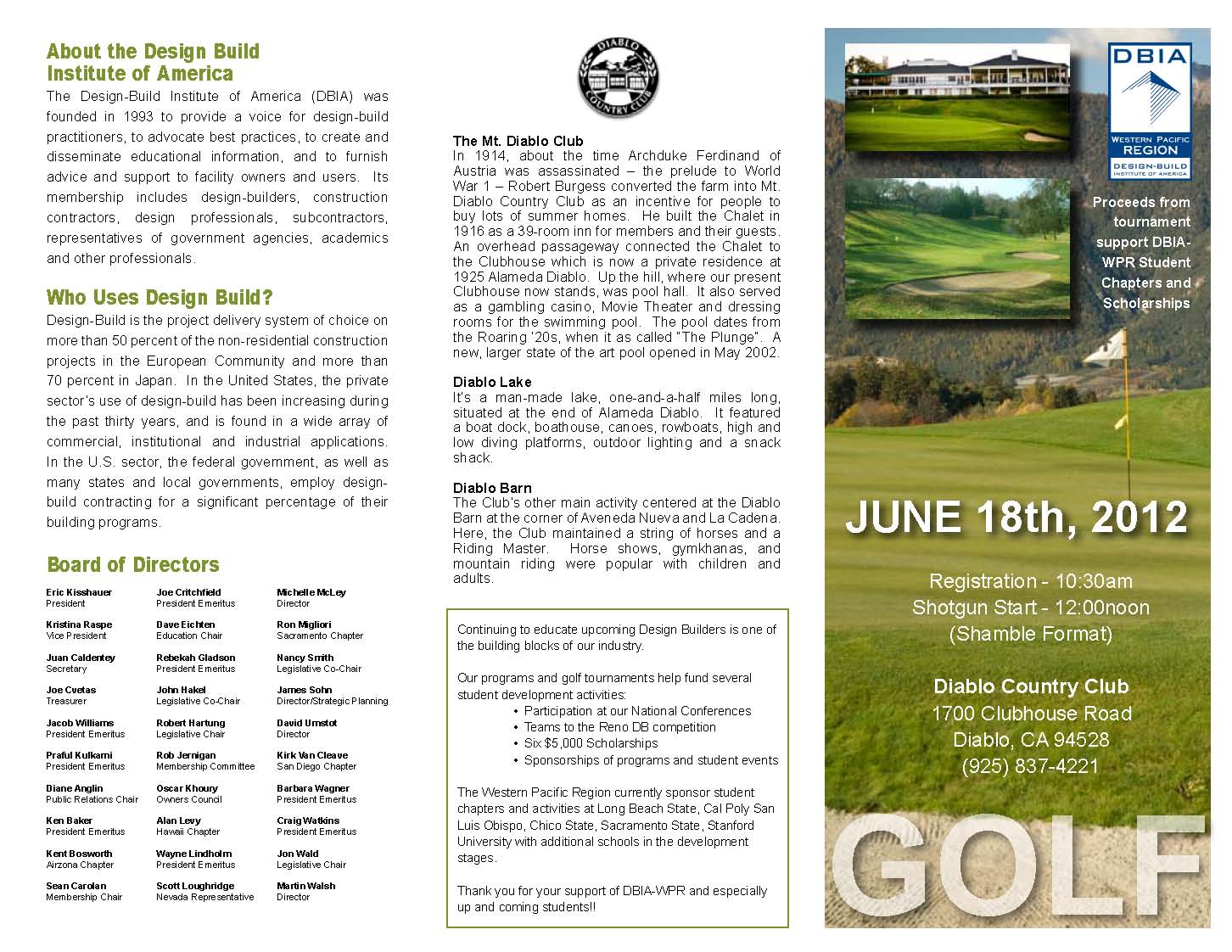 Nice Click Here To Download Golf Tournament Brochure.