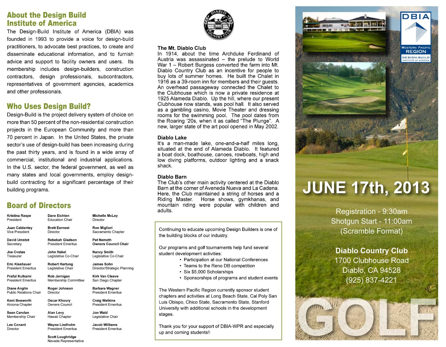 Click Here To Download Golf Flyer.