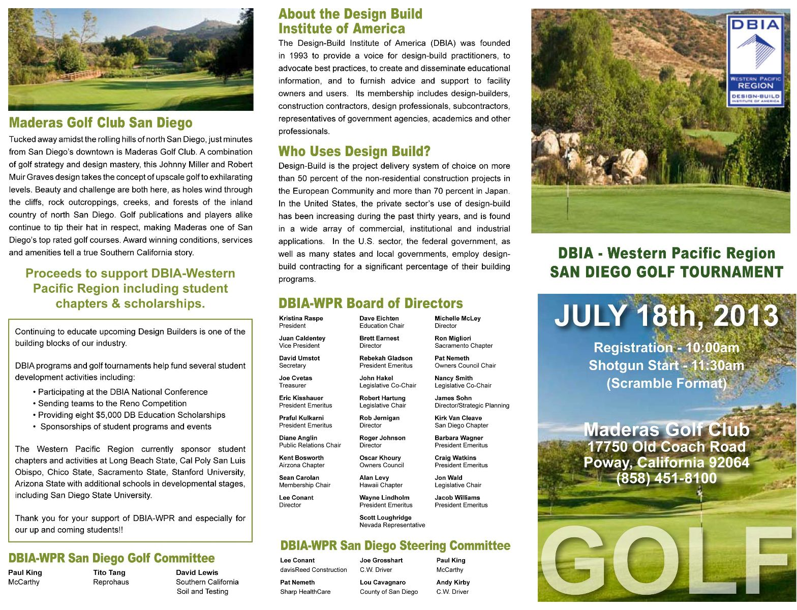 Click Here To Download Golf Brochure.