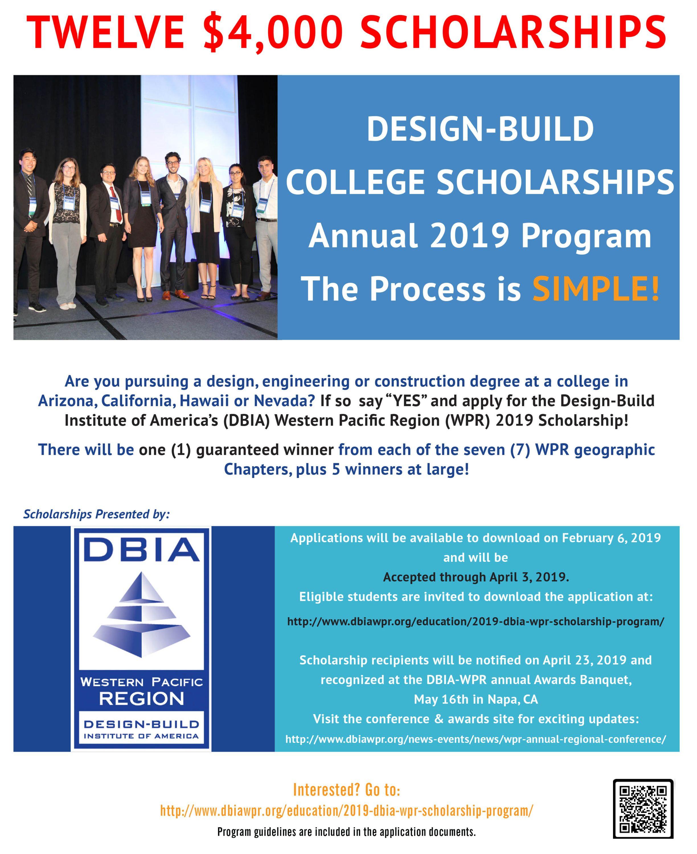 2019 Design-Build College Scholarship Program - Design-Build