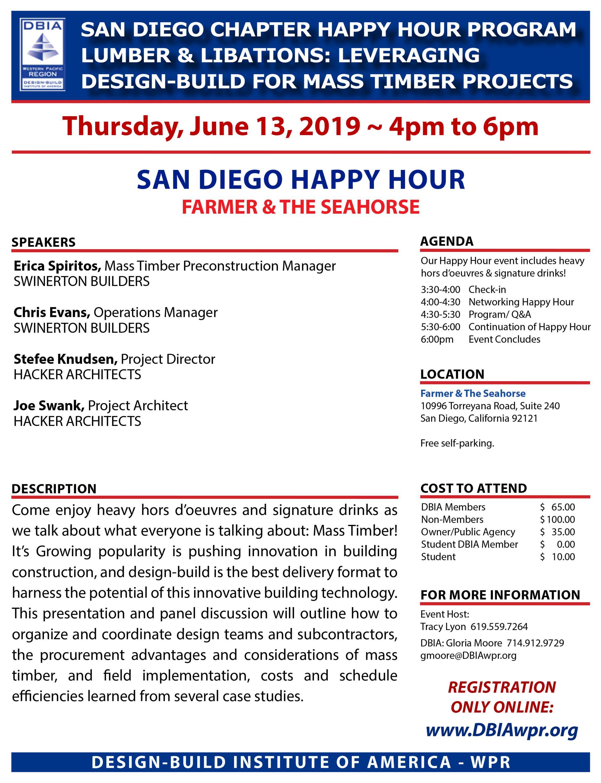 Happy Hour Program (San Diego) - Design-Build Institute of