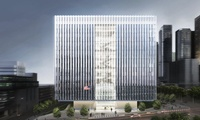 U.S. Federal Courthouse, Los Angeles, 633,000 SF, 10-story, 24- courtrooms, LEED Platinum (civil engineering services)