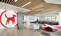 Fun, creative, and pet friendly Redtail Technologies recently occupied their 33,000 SF headquarters in Rancho Cordova, CA