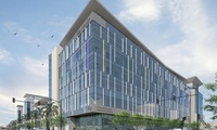 UCSF, PCMB Mission Bay: 170,000sf Cancer Medicine Building. LEED Gold, Traditional Design Build.